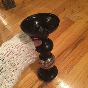 Other - Black/Silver Candle Holder