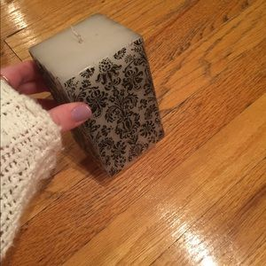 Other - White/Black Patterned Candle
