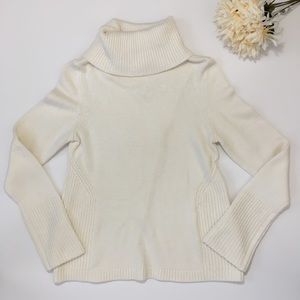 WHBM Turtleneck with Surplice Back Sweater