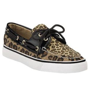 Sperry leopard/patent leather Top-Sider