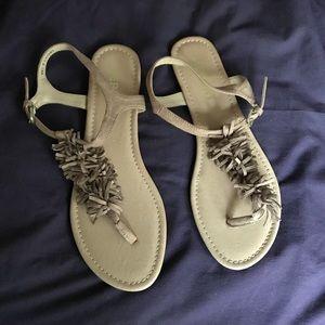Report fringe sandals, size 8 NWT