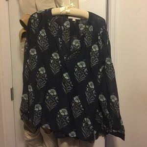 Loft Navy and Floral Tunic