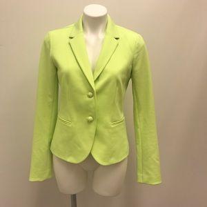 Gap Academy neon yellow green button blazer