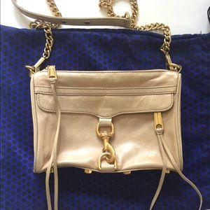 Rebecca Minkoff Beige Mini Sac Crossbody with Gold