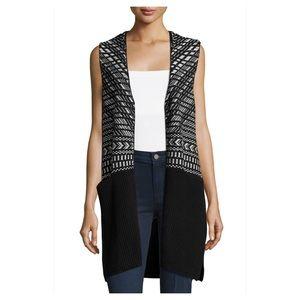 UO Long Jacquard Sweater Vest