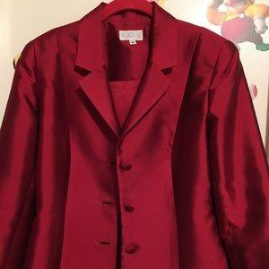Deep red blazer size 8