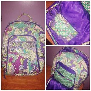 Vera Bradley backpack and ID holder