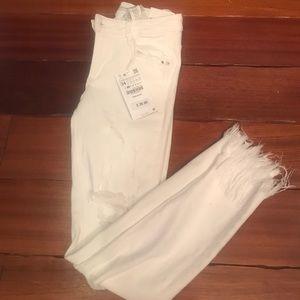 Zara Trafaluc white Skinny Jeans
