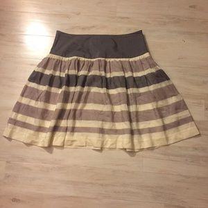 Dresses & Skirts - GAP Gray Stripe Cotton Silk Drop Waisted Skirt 10