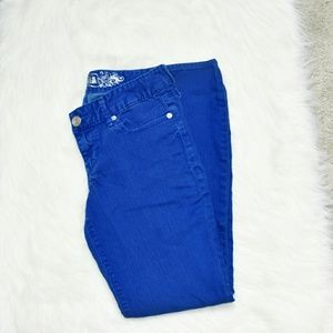 Express Blue Skinny Jeans