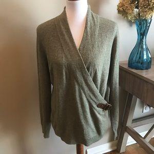 Lauren Ralph Lauren Faux Wrap Sweater size L