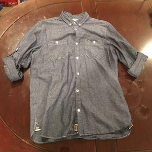 Buffalo David Bitton Denim Dress Shirt (Size Large
