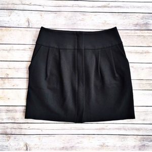 Club Monaco black ponte skirt