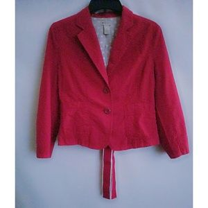 Elevenses by Anthropologie Red 3/4 Sleeve Jacket