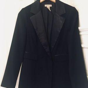 Long Tuxedo Blazer