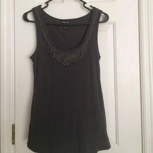 """Wet Seal"" Women Dark Gray Sleeveless T-Shirt. (L)"