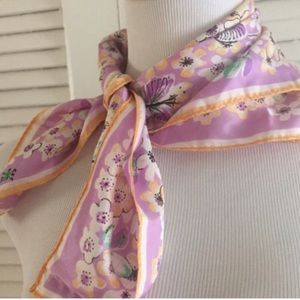 Vintage Lilac Floral Scarf, A Beauty!