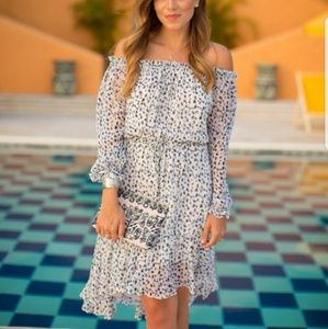 DVF Camila Off the Shoulder Dress