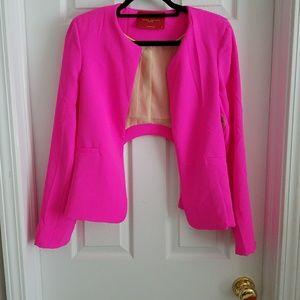 Akira Neon Pink Blazer