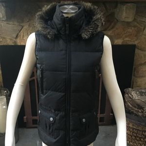 Puffer Vest with Detachable Fur Lined Hood