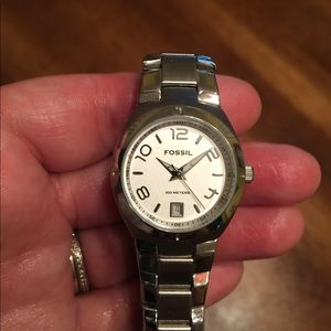 Women's Fossil Silver Watch Excellent Condition