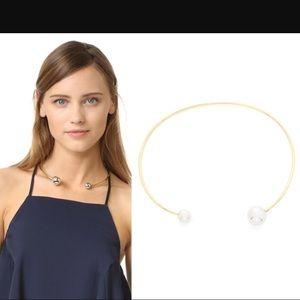 Rebekah Minkoff bead end collar necklace