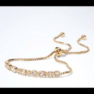 Banana Republic Cubic Zirconia GoldPlated Bracelet
