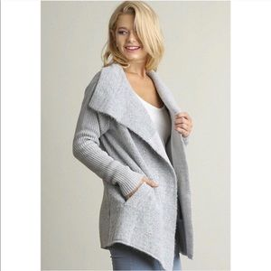 Open Front Double Breasted Cardigan