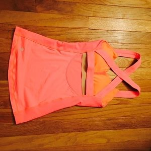 Coral cross back tank size 2