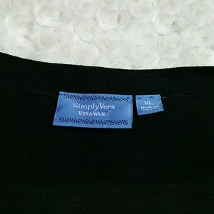 Simply Vera Vera Wang Sweaters - Simply Vera Wang Ruffle Sweater Cardigan
