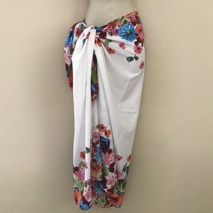 Floral Sarong/Wrap- Wear Many Ways! 🎁