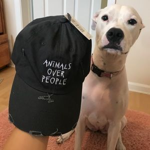 Animals over people dad hat