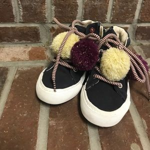 Toddler sneakers with Pom Poms. Size 8&1/2, 26