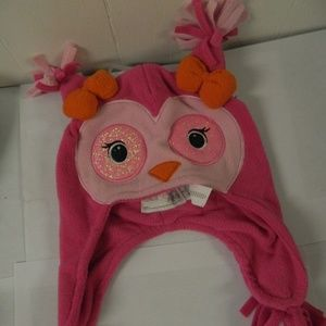 The Childrens Place Fleece Owl Hat NWT sz 6-12m