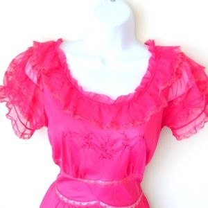 VINTAGE 60S MAD MEN NIGHTGOWN OR DRESS ROMANTIC