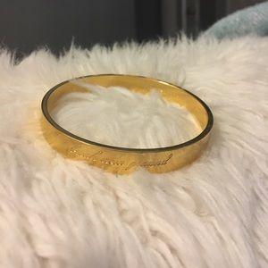 Kate Spade break new ground gold bracelet