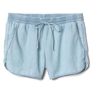 NWT GAP TENCEL™ denim dolphin shorts