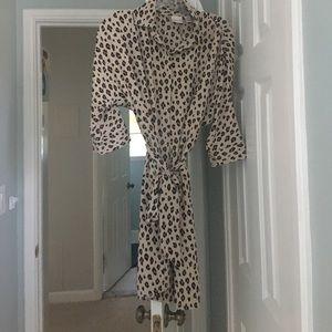 Chicos leopard print shirt dress