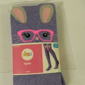 Girls Soft Acrylic Purple Tights sz 4-6X NEW