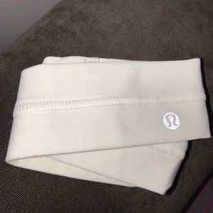 NWOT lululemon white headband