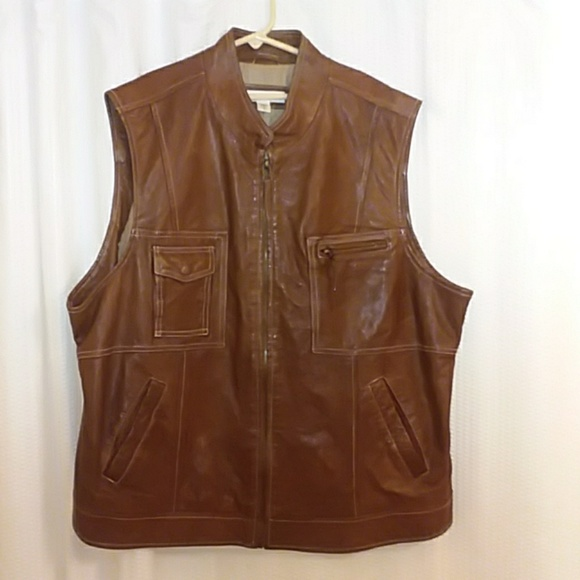 Coldwater Creek Jackets & Blazers - Coldwater Creek Brown Leather Vest