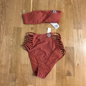 NWT High Waisted and Cut Out Small SwimSuit