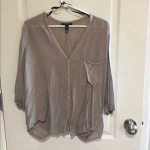 Forever21 taupe flowy top