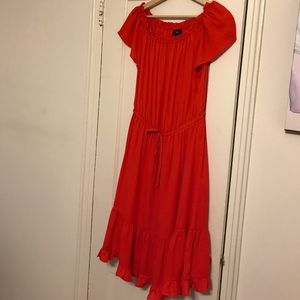 Mossimo red/bright orange off the shoulder dress