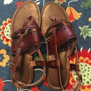 Boho sandals gently used