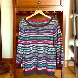 Lands' End fair isle Sweater