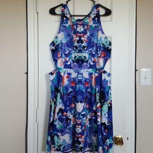 Watercolor cutout dress