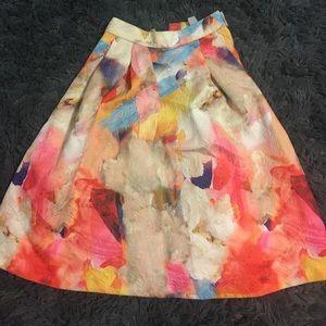 H&M printed midi skirt