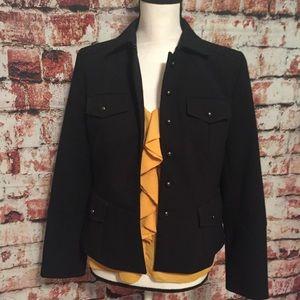 {Loft} black military style jacket