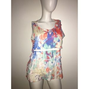 Coldwater Creek Ruffled Tank Sz L 14